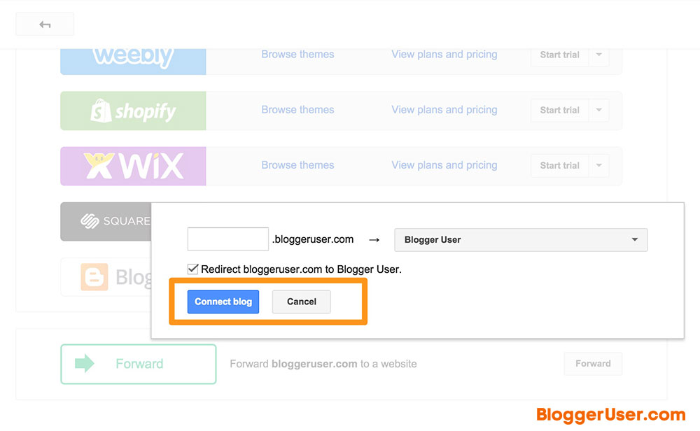Connect Existing Blog Custom Domain Blogger