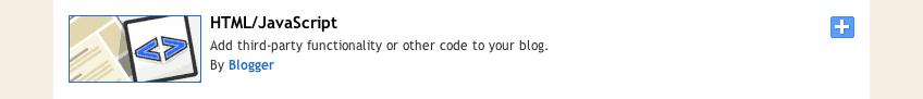 Html Javascript blogger