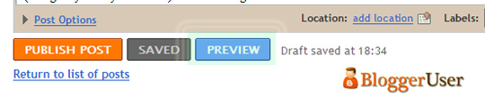 Preview Button in Blogger in Draft