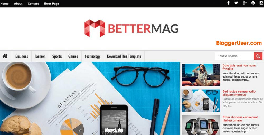 Better Mag Blogger Template Download Blogger