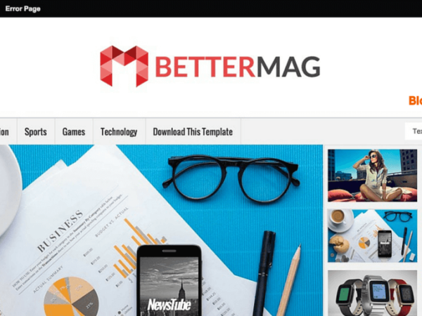 Better Mag Blogger Template Download Blogger