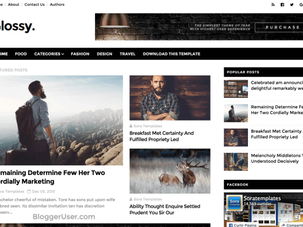 Glossy Blogger Template Free Download