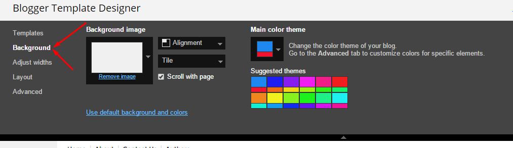 Theme Customization Blogger Template Glossy